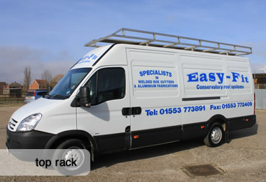 Heavy Duty Roof Racks for Glazing Vehicles